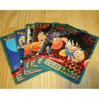 Dragonball power level part 16 prism set(all unpeeled)