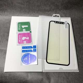 iPhone X 保護貼 紫光 全屏幕 黑白色 Temper glass screen protector