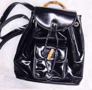 Gucci Bamboo Mini Leather Backpack
