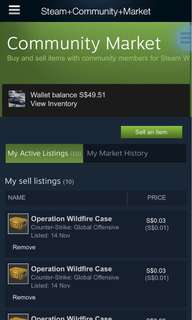 Steam credits