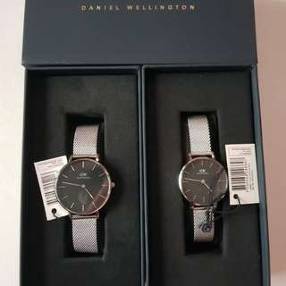 Daniel wellington sterling black petite