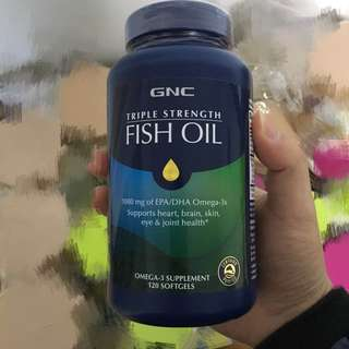 GNC Triple Strength Fish Oil 120 Softgels