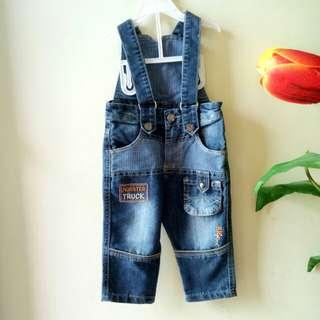 Baju Kodok Anak ( Overall Jeans )