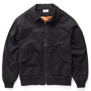 全新-斜紋布料黑色MA-1外套