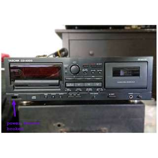 Cassette deck by Tascam