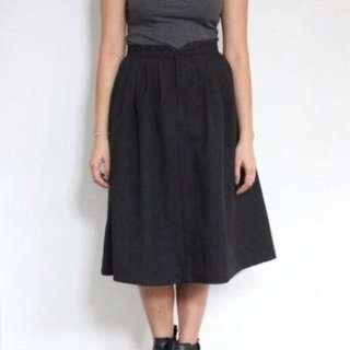 Vintage 1960s A-Line Midi Skirt