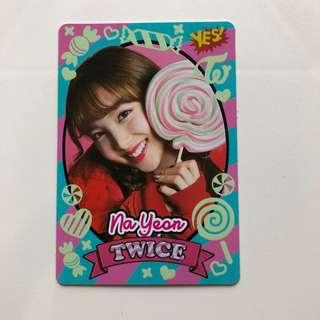 Twice Yes!專輯卡 part3 夜光卡 Na Yean