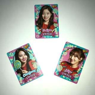 Twice Yes!專輯卡 part3 夜光卡 JiHyo DaHyun Chae Young