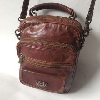 SATCHI mini leather sling bag
