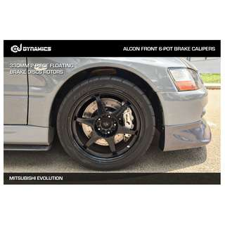 CJ DYNAMICS 330MM BRAKE DISCS ROTORS FOR ALCON BRAKE CALIPERS