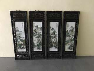 Antique Porcelain Wall Panel