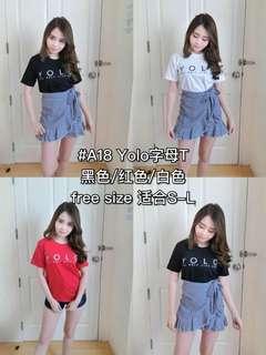 YOLO T-Shirt Top [ 泰国代购🇹🇭12号-25号 3月 ]