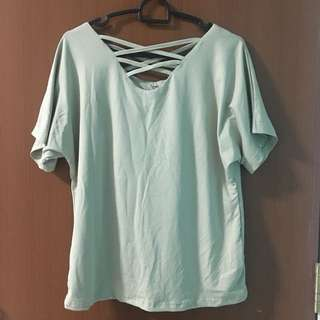 SALE Light Green Criss Cross Top