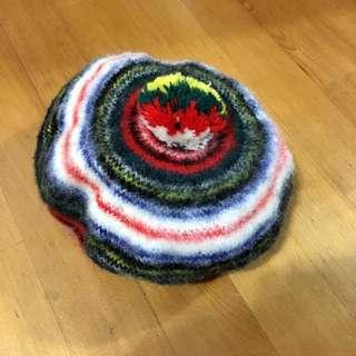 秋冬 復古 古著 貝蕾帽 毛帽