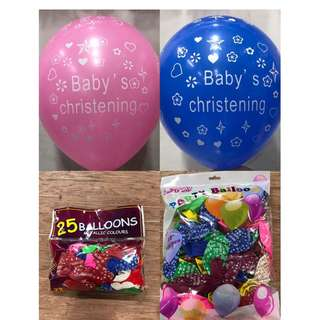 BABY CHRISTENING RUBBER BALLOONS