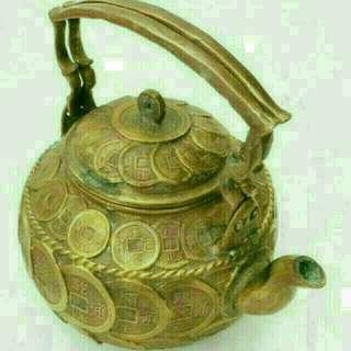 清帝古銅幣運財壺