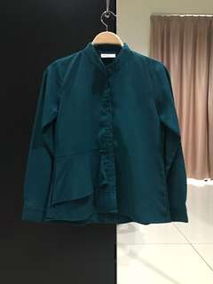 Allyline Green Long Sleeves Shirt (Size S)