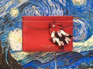 Marc Jacobs Lucky Fire Rooster Card Case