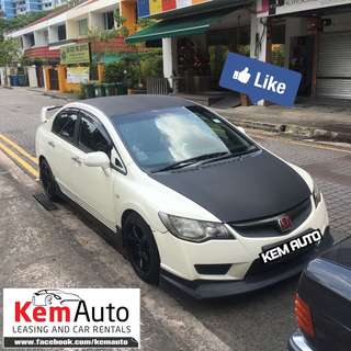 Sporty Honda Civic 1.8A with FD2R bodykit, spoiler , exhaust, 6 Pot BBK, for Grab/UBer Personal Rental