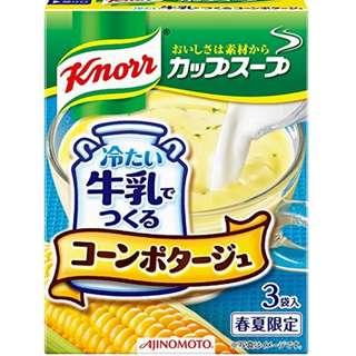 (全新訂購) 日本製造 味之素 Knorr 家樂牌 Cup soup 牛奶粟米湯 (4 盒裝)