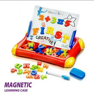2 in 1 Magnetic Drawing & writing board with letters and numbers