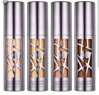 Urban Decay All Nighter Foundation in shade 3.0