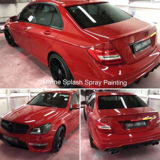 Car spray painting service