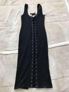 Black lace up dress!