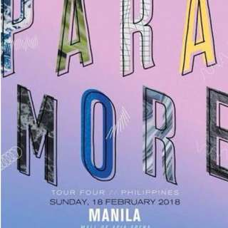 Selling 2 Paramore Lower Box B Tickets
