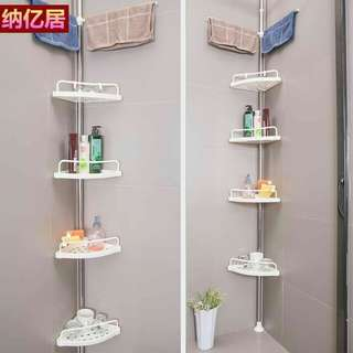 Multi corner bathroom shelf