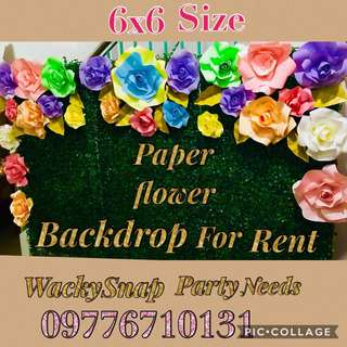 PAPer flower backdrop for Rent with free letter standee