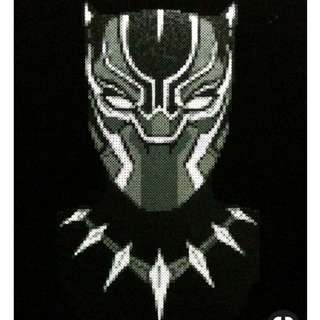 Black Panther Hama Bead Designs With Photoframe