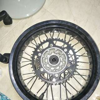 Rims DRZ 400CC minus only scuffed