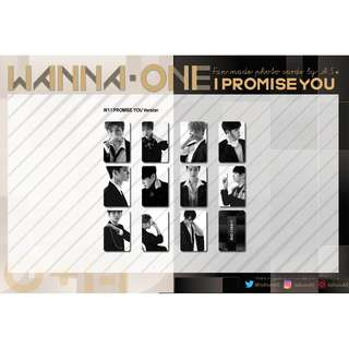 WANNA ONE I PROMISE YOU UNOFFICIAL PHOTO CARDS (11PC)