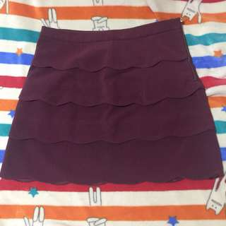 Office skirt plus size (maroon/ red)