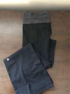 Lululemon leggings, wide bottom