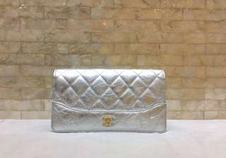 Chanel Wallet金銀🛎19cm
