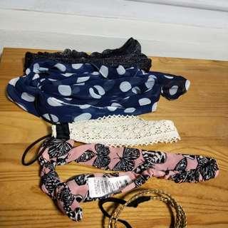 Assorted headbands / scarf