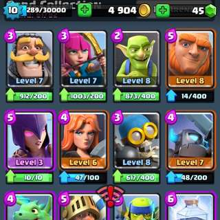 Level 10 clash royale account