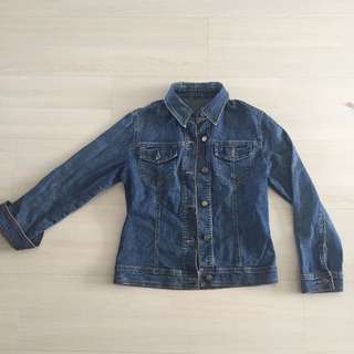Basic essentials denim long sleeves buttons down jacket pullover