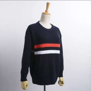 (2 Colors) Brandy Melville Colorblock Knitted Sweater!