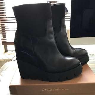 Ash 黑色boots,內有1寸內增高墊,約4寸高,size 37, 前掌約寸半高,90%新