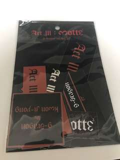 ACT III: MOTTE GDRAGON STICKER SET
