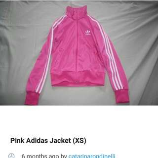 Adidas pink zip up track