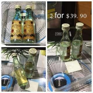 Set Of 2 30 Years 44% Alcohol Bacardi