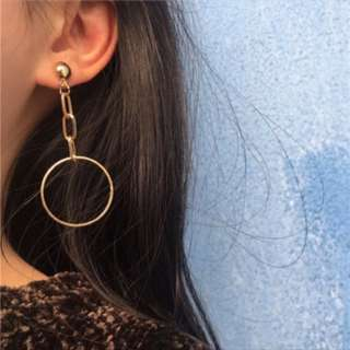 (Instock) Karma - Chain Hoop Earrings