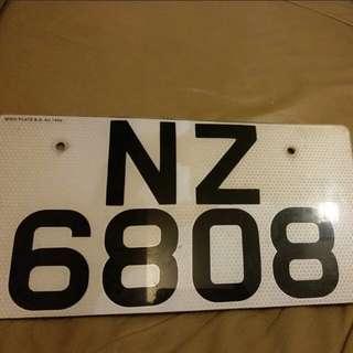 幸運車牌 NZ6808