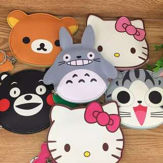 Anime wallet/cute cartoon character wallet