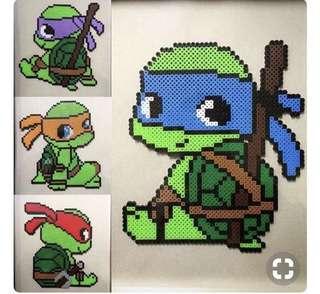 Ninja Turtles bead designs