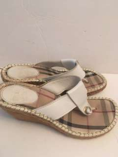 Authentic Burberry wedge sandals size 9